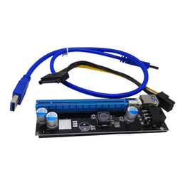 Discount usb pci e riser - PCI Express Riser Card and PCI-E 6Pin 1x to 16x Extender with USB 3.0 Data Cable+SATA Power Supply Cable QJY99