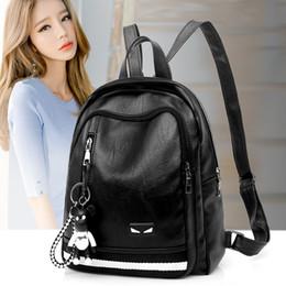 dceb33a657ceb Heißer Verkauf Klassische Mode Rucksack Schultertasche Hohe Qualität Frauen  Zurück Packs Koreanische Version Kleine Monster Nette Tasche Schultaschen