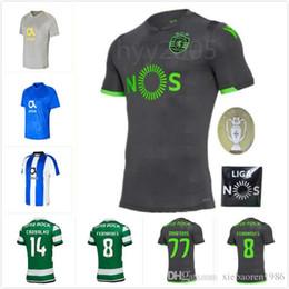 ffe52dd2dca 2018 2019 Sporting Clube de Portugal Lisbon Futbol Camisa Lisboa Dost Martins  Soccer Jersey 2018 19 Football Camisetas Shirt