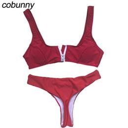 b9d1354891dfa1 wholesale 2018 Swimwear Women Bandeau Push Up Bikini Set Brazilian Biquini  Thong Bottom Female Swimsuit Beachwear Bathing Suit