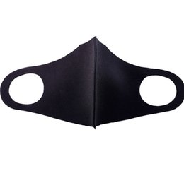 kpop face mask Australia - Black Kpop Mouth Mask Breathable Unisex Sponge Face Mask Reusable Anti Pollution Face Shield Wind Proof Mouth Cover
