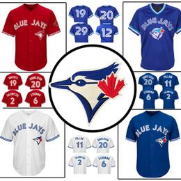 6f0ed26fc75 Toronto Blue Jays Jersey Jose Bautista 29 Joe Carter 2 20 12 Roberto Alomar  6 Marcus Stroman 11 Kevin Pillar Baseball Jersey