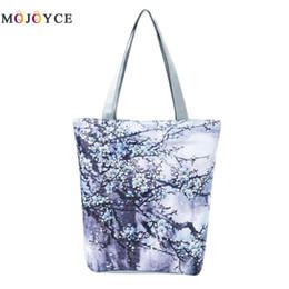 Bucket Handles Wholesale Australia - 2018 Ethnic Canvas Tote Floral Print Handbag Women Shoulder Bags Casual Top-handle Bag Bolsos Mujer