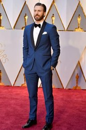 $enCountryForm.capitalKeyWord Canada - Royal Navy Cheap Celebrity Men Suits For Wedding Slim Fit Groomsmen Tuxedos Two Pieces Wedding Suit (Jacket+Pants+Tie)