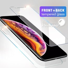 Tempered glass fronT back online shopping - Front and Back Rear CAMBO Tempered Glass For NEW Iphone XR XS MAX X Screen Protector Film mm D H Anti shatter With Package
