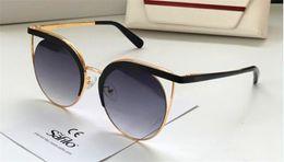 new women summer fashion tops 2019 - new fahsion designer sunglasses 186 cat eye metal big frame top quality uv400 protection eyewear women summer outdoor gl