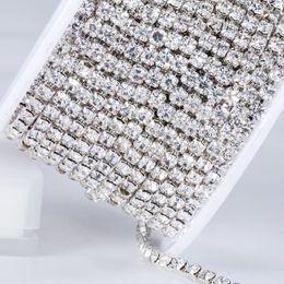 Crystal Rhinestone Cup Chain Canada - 5yard 1-6 Row Wedding Decoration  Crystal Band Wholesale 3e04f107e5d2