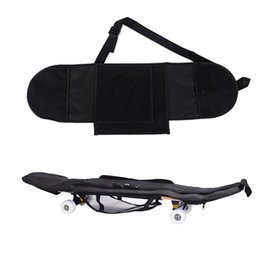 skateboard decks 2018 - Skateboard Backpack Carry Bag Deck Backpack Longboard Carrying Portable Black Non Woven Fabric Practical cheap skateboar