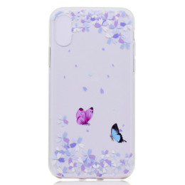 $enCountryForm.capitalKeyWord UK - Transparent TPU Cover For iPhone X Case Colour decoration Tower bike Butterfly Girl Design Phone Case For iPhone XS
