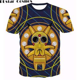 f9e775688 Pikachu t shirt online shopping - PLstar Cosmos Acid Pikachu T Shirts  Harajuku Tee Shirts Summer