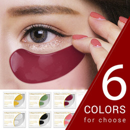 wholesale 24k gold skin care Canada - LANBENA 24K Gold Eye Mask Collagen Eye Patches Anti Dark Circle Puffiness Eye Bag Moisturizing Skin Care 6 Colors 1205002