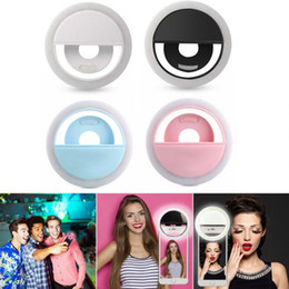 Discount lamps for charging phones - Universal Selfie Ring Light LED Lamp USB Charge Selfie Flash Camera Phone Len Photography Enhancing for iPhone XS Max Hu