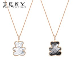 Wholesale TENY Swa Teddy Pendant Necklace Sterling Silver OriginalHigh Quality Women Jewelry First Choice Free Package Mail