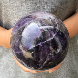 172d072a4 Large size High Quality NATURAL Dream Amethyst Quartz Crystal sphere ball  Orb Gem Stone Healing Home Decoration Free shipping
