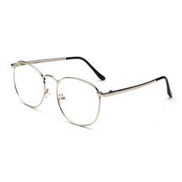 79aa1abccb New Designer Men Woman Glasses Optical Frames Metal Round Glasses Frame  Clear lens Eyeware Black Silver Gold Eye Glass