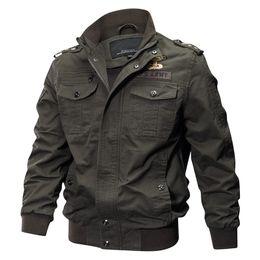 c9566b39247 2018 Military Jacket Men Spring Autumn Cotton Pilot Jacket Coat Army Men s  Bomber Jackets Cargo Flight Jacket Male Plus Size 6XL