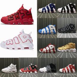 Venta al por mayor de Zapatos de baloncesto Uptempo de alta calidad con cojín de aire para hombres mujeres 96 QS Olympic Varsity Maroon 3M Scottie Pippen zapatillas deportivas tamaño 36-47