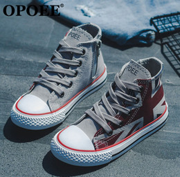 c708326e684f Flag print shoes online shopping - Boys sneakers fashion kids american flag  printed canvas casual shoes