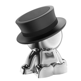 $enCountryForm.capitalKeyWord UK - Magnetic Phone Car Mount, Cell Phone Holder top hat Universal Dash Mount Hands For Iphone 4S 5S 6 7 8 X Samsung