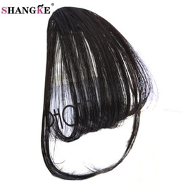 Discount burgundy brown hair color black women - SHANGKE Short Synthetic Bangs Heat Resistant Synthetic Hair Women Natural Short Fake Hair Bangs Women Pieces