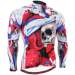 biking clothing 2019 - Men Cycling Jersey Long Sleeve Ride Clothing Breathable Tracksuits Sports Suit Men Bicycle Male Clothes tights Biking Je