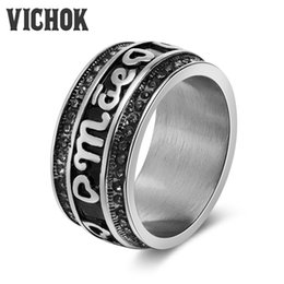 2018 top wedding ring brands personality heart letter band rings stainless steel male ring for men - Wedding Ring Brands