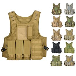 tactical body armor 2019 - Tactical Vest Molle Men Body Armor Vest Combat Assault Waistcoat Plate Carrier Hunting Outdoor Camouflage Coat cheap tac