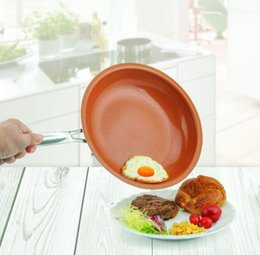 TiTanium ceramic coaTing online shopping - Non stick Copper Frying Pan with Ceramic Coating and Induction Cooking Oven Dishwasher Safe cm