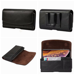 Leather Belt Holster Case NZ - Horizontal Sheep Leather Case For Iphone XR XS MAX 10 X 8 7 6 5 5S Galaxy S9 S8 Note 9 8 P20 Pro Hip Clip Holster Buckle Elastic Belt Pouch