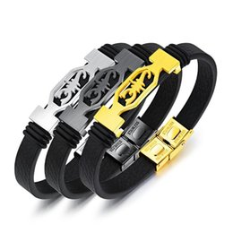 $enCountryForm.capitalKeyWord UK - Gold Black Slver Color Fashion Simple Men's Leather Scorpion Bangle Stainless Steel Bracelet Watchband Jewelry Gift for Men Boys 1204