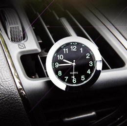 auto clocks car 2019 - Automobile Quartz Clock Watch Ornaments Vehicle Auto Interior Watch Digital Pointer Air Conditioning Outlet Car Decorati