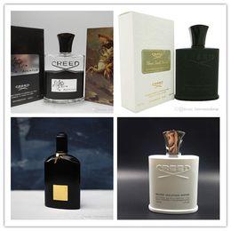 Calidad superior! Creed aventus creed / GREEN IRISH TWEED / Creed astilla agua de montaña Orquídeas negras perfumes para hombres envío gratis en venta