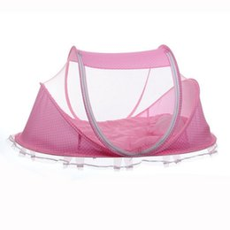 Travel Baby Bed Crib Folding Mosquito Net Infants Insect Netting Cotton Pillow Pad Mat Portable Cushion Mattress Canopy Tent portable crib tent deals  sc 1 st  DHgate.com & Discount Portable Crib Tent | 2018 Portable Crib Tent on Sale at ...