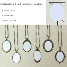 Custom Design Gifts Canada - Sublimation Blank pendants Europe court style women individuality necklace custom picture photos design pendant jewelry wholesale M25