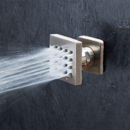 Brass Brushing NZ - Luxury Brass 1pcs Wall Mounted Shower Body Jets Spray For Spa Bath & Shower System Brushed Nickel