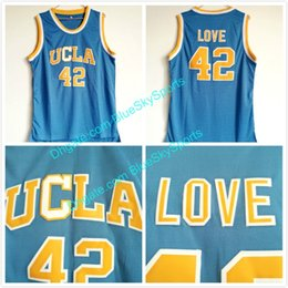 03902429bbb3 Men s UCLA Bruins  42 Kevin Love Jersey Baby Blue Stitched College Basketball  Jersey Fast Size S-XXL