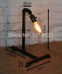 Vintage Water Pipes Australia - Edison Lamp Bulb Vintage Table Lamps Personalized Water Pipe Table Lights Desk Book Lamp E27 Loft Vintage Lighting