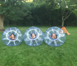 body bumpers inflatable UK - Free Shipping 1.5m Hot Sale Inflatable Football Suit Inflatable Zorb Bumper Ball Bubble Soccer Ball Body Zorb