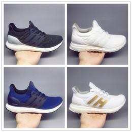 e822d1b26f87 2018 ultra boost 4.0 3.0 core Triple Black white Primeknit Runner fashion ultraboost  Running sneaker sports shoes for men women Eur36-47