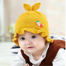 Wholesale Knit Infant Beanies Australia - Winter Knitted Kids Pom Pom Hat Girl Kids Skullies Beanie Hats Warm Cap Boy Thick Baby Infant