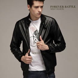 Korean Motorcycle Jacket Australia - Korean version of the jacket men's stand collar slim casual leather men's leather jacket motorcycle PU