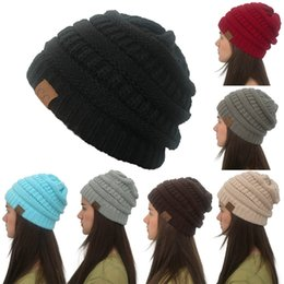 8d711aefc4a Ponytail Beanie Hat Women Crochet Knit Cap Winter Hat Skullies Beanies Warm  Caps Female Knitted Stylish For Ladies and men