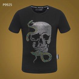 $enCountryForm.capitalKeyWord NZ - 2018 Popular summer Printed Phillip Plain Evil snake tshirt New style cotton men t-shirt Black T Shirt Hip Hop Short sleeve t-shirts XXXL