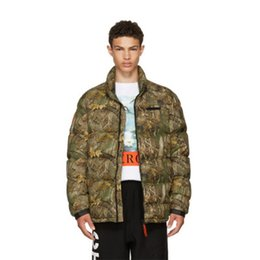 New Thick Warm Jacket Men Women Heron Preston Camouflage Jacket Leaf  Printed Winter Coats Men 2018 8f3367e1284