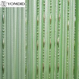 $enCountryForm.capitalKeyWord NZ - Beads line curtain Modern Yarn Dyed Curtains for Home Living room Hotel Cafe interior decoration Solid Curtain 100 * 200 cm