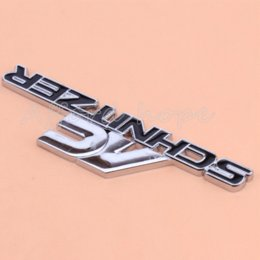 Car Emblem Logos Badges Australia - Car Styling 3D Black AC Schnitzer Logo Metal Front Hood Grille Badge Emblem Auto Stickers Decal For BMW Universal Fit All Car