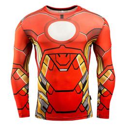 Superman Batman T Shirt Australia - Free Shipping Superhero Superman Batman Spiderman Men Long Sleeve T Shirt Compression Tights Tops T-shirt C07