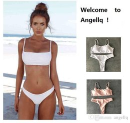 d19a0ecf02 Women's Bikinis Canada - Women Bandage Bikini Set Push-up Bra Thong Underwear  Swimsuit Swimwear