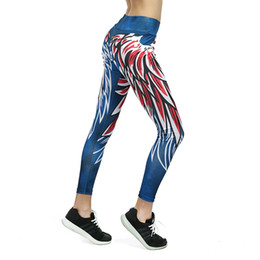 a7aeeb7ba5 New Slim Bodycon Yoga Pants Wing Print Leggins Push Up Fitness Sexy Cartoon  3D Graffiti Women Training Sport Yoga Leggings