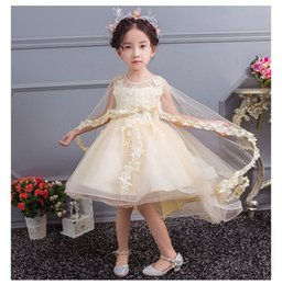 $enCountryForm.capitalKeyWord Australia - flower girl dresses New Arrive White Tulle Shawl Children Ball Gowns Beaded Appliques Sweet Little Princess Dress Custom Flower Girl Dresses